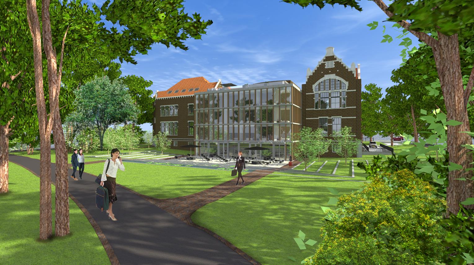 Architerctenbureau Amsterdam Maxim Winkelaar maakt ontwerp voor 5 sterren hotel gelegen aan Mauritskade te Amsterdam.