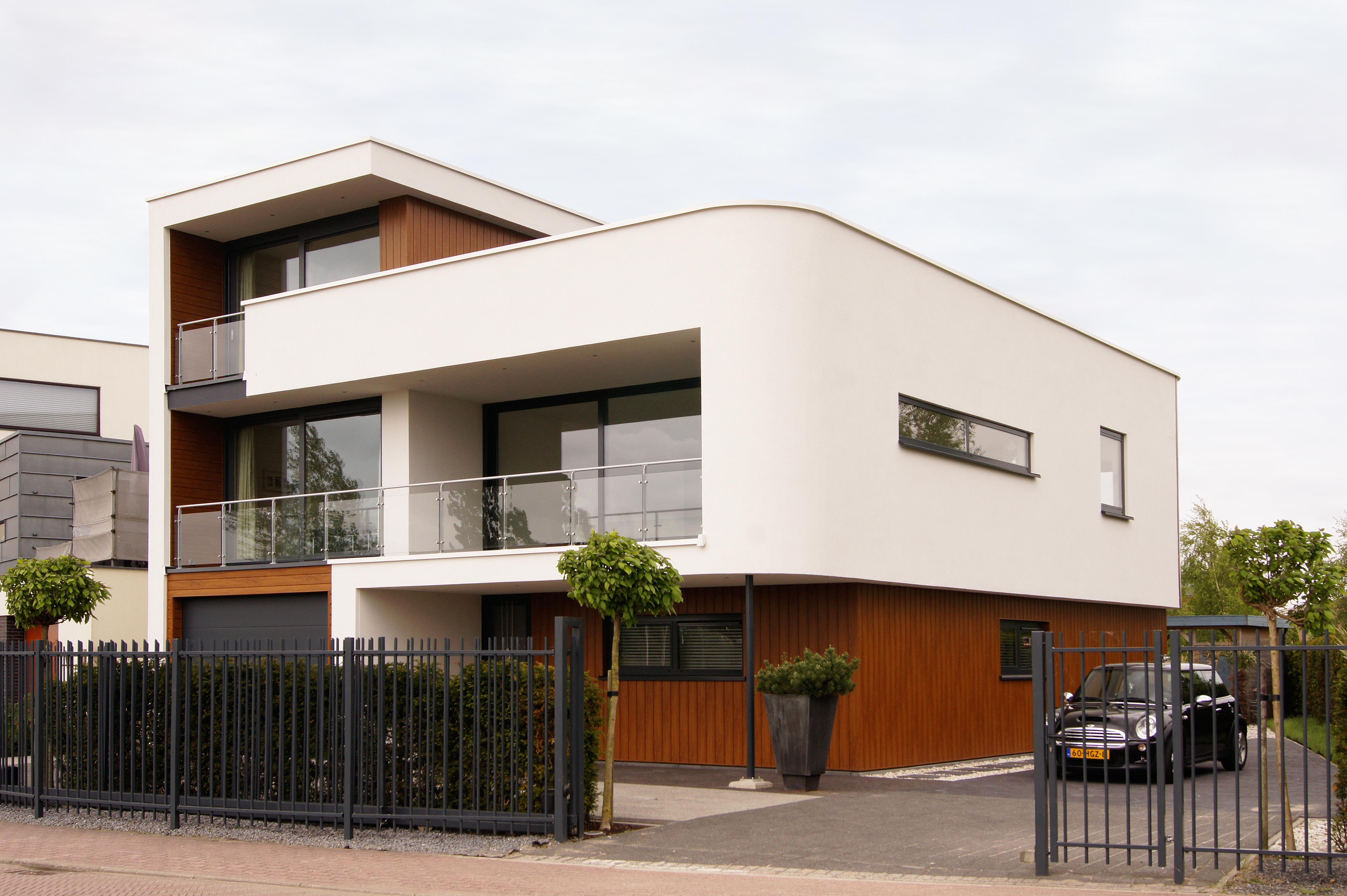 Architect Zoetermeer, Rotterdam en Den Haag Maxim Winkelaar ontwerp voor nieuwbouwwoning met rondingen.