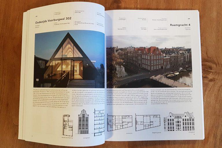Boekpublicatie in Gbeouwd in Amsterdam door Gemeente A,sterdam, architect Maxim Winkelaar.