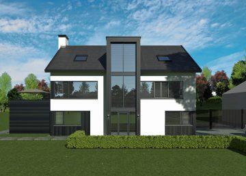 Ontwerp en renovatie van een moderne dijkwoning in Muiden door architect Maxim Winkelaar uit Amsterdam.