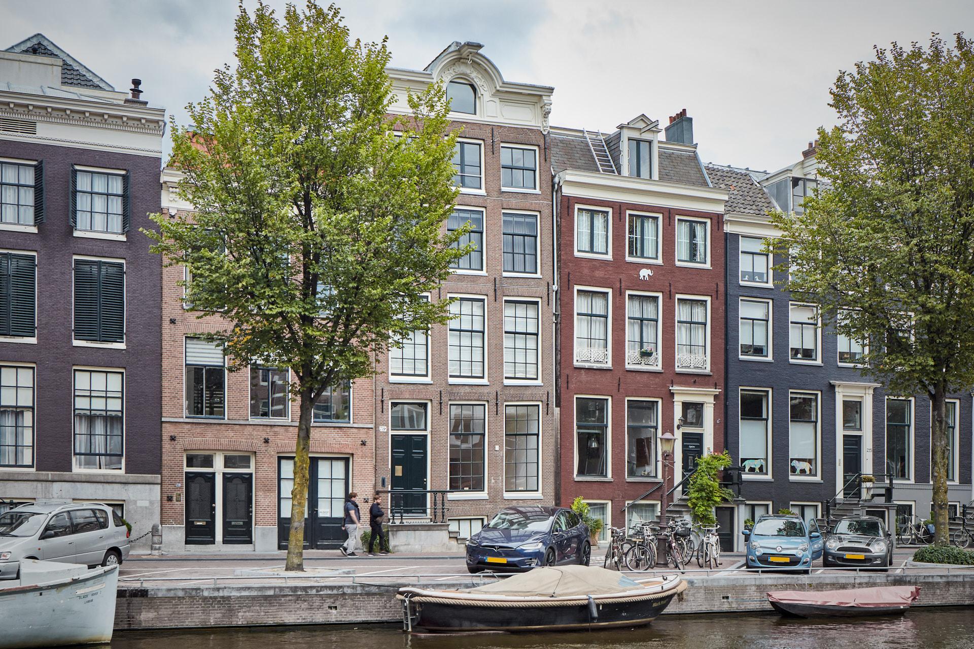 Renovatie van een grachtenpand Prinsengracht in centrum van Amsterdam