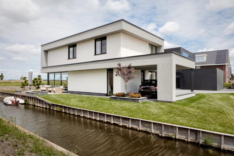 Nieuwbouw vrije kavel rotterdam nesselande door architectenbureau maxim winkelaar uit amsterdam.