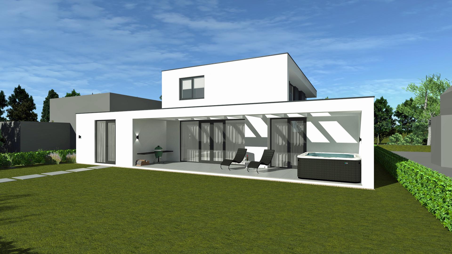 Nieuwbouw villa ontwerp door architect in Rotterdam Maxim Winkelaar maakt modern en duurzaam ontwerp.