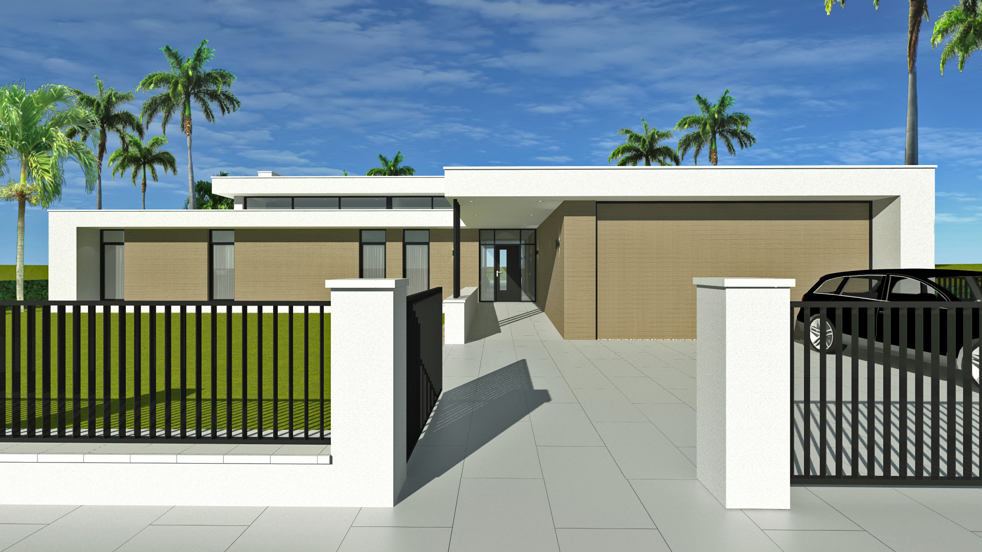 Nieuwbouw villa in de Caribbean op het eiland Aruba heeft Nederlandse architect Maxim Winkelaar uit Amsterdam een moderne nieuwbouwwoning ontworpen met zwembad en gastenverblijf.