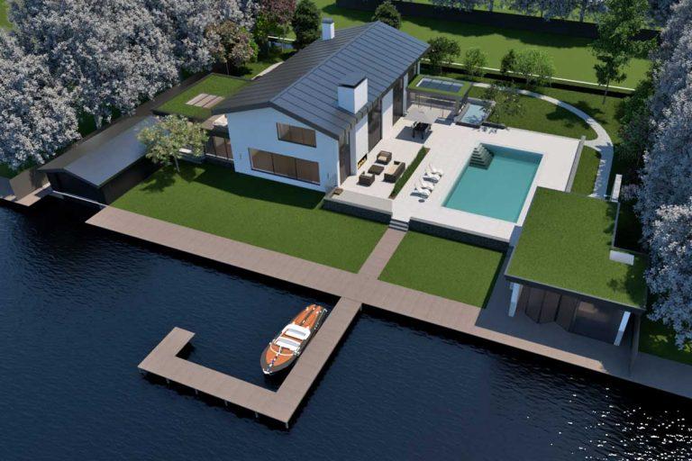 Renovatie van een bestaande villa in Vinkeveen. Architect Maxim Winkelaar uit Amsterdam verzorgt het ontwerp en interieurontwerp met vergunningen.