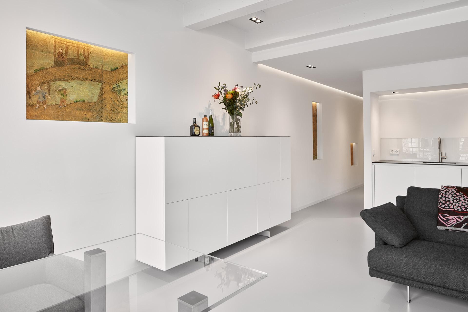 Renovatie appartement Keizersgracht Amsterdam met moderne keuken